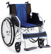 Panacea Deluxe Aluminum Wheelchair, Half Foldable Back, Attendant Brake Ai-1869