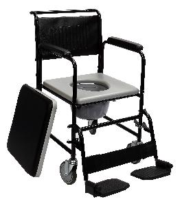 "Panacea Commode Wheelchair With Detachable Arm & Foot. With 5"" Castor Wheel Ai-2031"