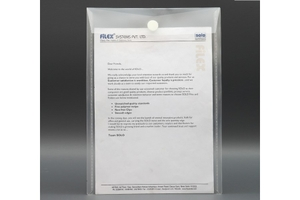 Solo Ch 109 Transparent White Velcro Document Envelope