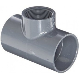 Prince Threaded Tee Pipe Fitting Injection Moulded Size - 90x40