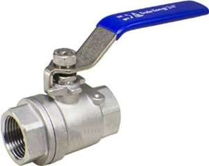 Techno Stainless Steel 2 Pc Full Bore Ball Valve - Size 2.5 Inch