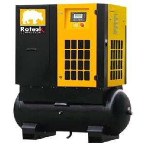 Roteck Ra-15c 88 Cfm Tank Capacity 300 Ltr Mounted Cabinet Screw Air Compressor