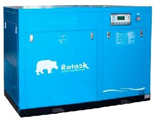 Roteck Ra-7 10 Hp Air Delivery 35 Cfm Standard Screw Air Compressor New Series Blue