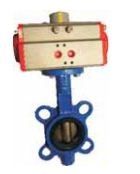 Techno Sb370-150 Thread Size 6'' Actuator With Butterfly Valve With Ci Disc