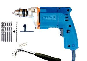 Dee Power 10 Mm Drill Machine With 6 Hss 1 Masonry Bit And Hammer