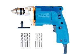 Dee Power 10 Mm Drill Machine With 6 Hss 4 Masonry Drill Bit