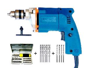 Dee Power 10 Mm Drill Machine With Drill Bit And Svrewdri