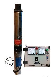 Kirloskar 1 Hp Single Phase Oil Filled Tubewell Submersible Pump Kp4jalraaj1008s-Cp, With Control Panel
