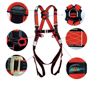 Ufs Full Body Harness Polyamide Usp 26  Single Usp 208 (2mtr.)Pa