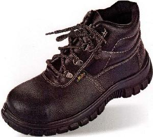 Metro (Aura) Blend High Ankle 7 No. Black Steel Toe Safety Shoes