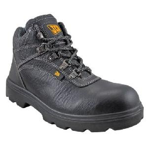 Jcb Excavator Grain Textured Leather Steel Toe Safety Shoes Size: 8
