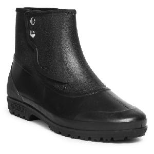 Hillson 7 Star Black Plain Toe Gumboot Size 8