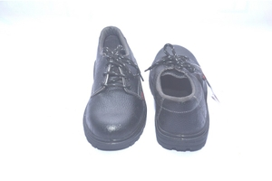 Aktion Ak Red Pvc 9.0 No. Black Steel Toe Safety Shoes