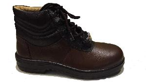 Liberty Warrior 7198-02 7 No. Brown Steel Toe Safety Shoes