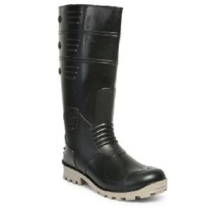 Hillson Black & Grey Steel Toe Gumboot Torpedo 212 Size 5