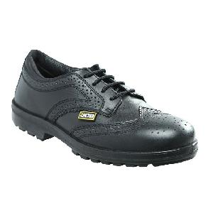 Jcb Executive Grain Cg Leather Steel Toe Safety Shoes Size: 8