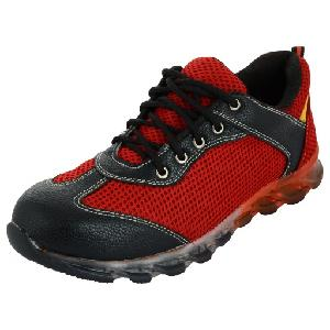 Dadhichi Red Steel Toe Safety Shoes Ra-01 Size 10