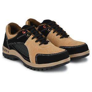 Armaduro Ad1006 Low Ankle Steel Toe Suede Leather Safety Shoes Size-8