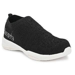 Kavacha S80 Steel Toe Slip-In Knitted Fabric Safety Shoes Size-8 Black