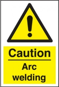 Nplabel Caution Arc Welding Sign With Self Adhesive 3m Vinyl
