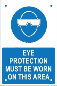 Nplabel Eye Protection Sticker With Self Adhesive 1mm Aluminium Sheet-Silver Background