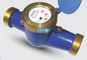 Jaldhara Brass Multi Jet Thread End Cold Water Meter  50 Mm