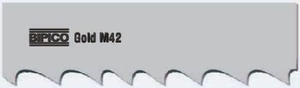 Bipico M42 Gold 34x1.10 Mm Bimetal Band Saw Blades 4100 Mm 6/10 Tpi