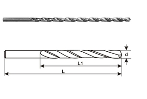 Miranda Tools Extra Long Series Parallel Shank Drills (Size 6.50 Mm, Overall Length 300 Mm)
