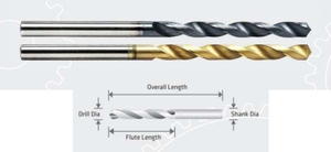 Jk Tools Tin Coated Solid Carbide Jobber Drill (Drill Dia 13.60 Mm, Flute Length 108 Mm)